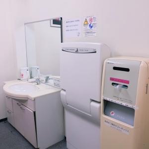 電気ケトル、手洗い場、オムツ台、オムツ専用ゴミ箱