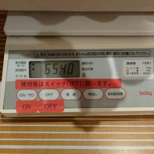 2019年10月体重計は10g計