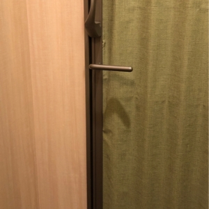 中から鍵がかけられます