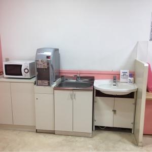 電子レンジ、調乳用給湯器、手洗い場