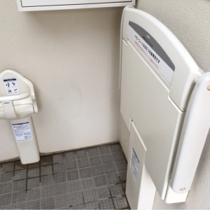一ツ木公園(多目的トイレ)のオムツ替え台情報 画像2