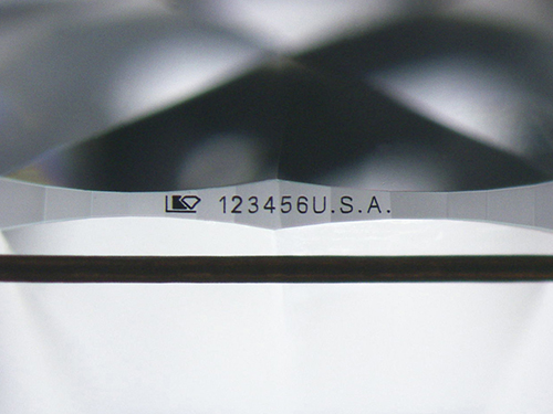 マイクロIDナンバー:ダイヤモンドの識別番号