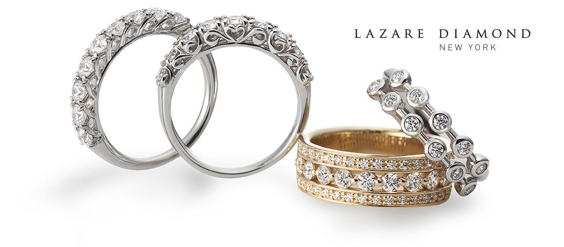 ラザール ダイヤモンドがお届けするアイディアルメイクのダイヤモンドのみを施した、エタニティーシリーズ。