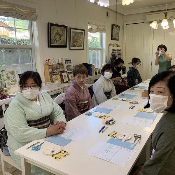 岡山店ぶらりおでかけ日和 とんぼ玉で帯留め作り