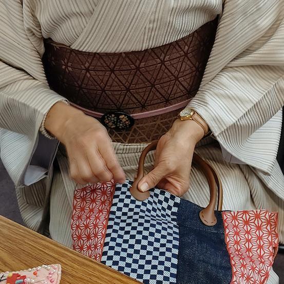岡山店 畳ふちで着物バッグを作ろう!