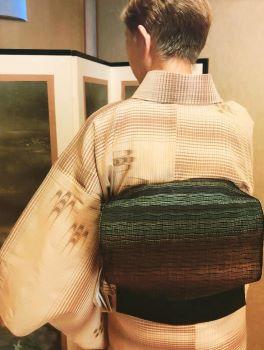 *処暑の着物コーディネート*琉球絣の夏着物と博多八寸帯