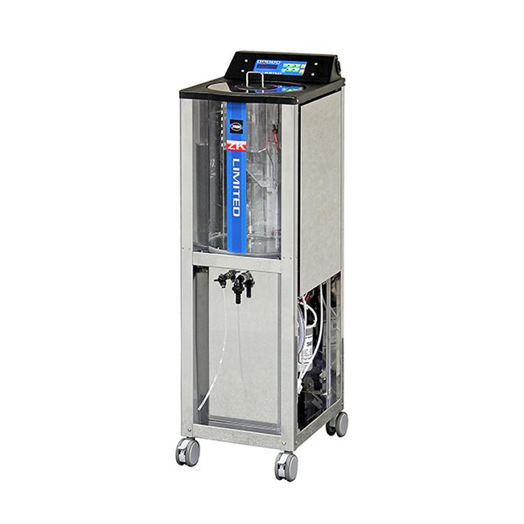 病院専用機材使用後は強アルカリ電解水にて洗浄。衛生管理の徹底