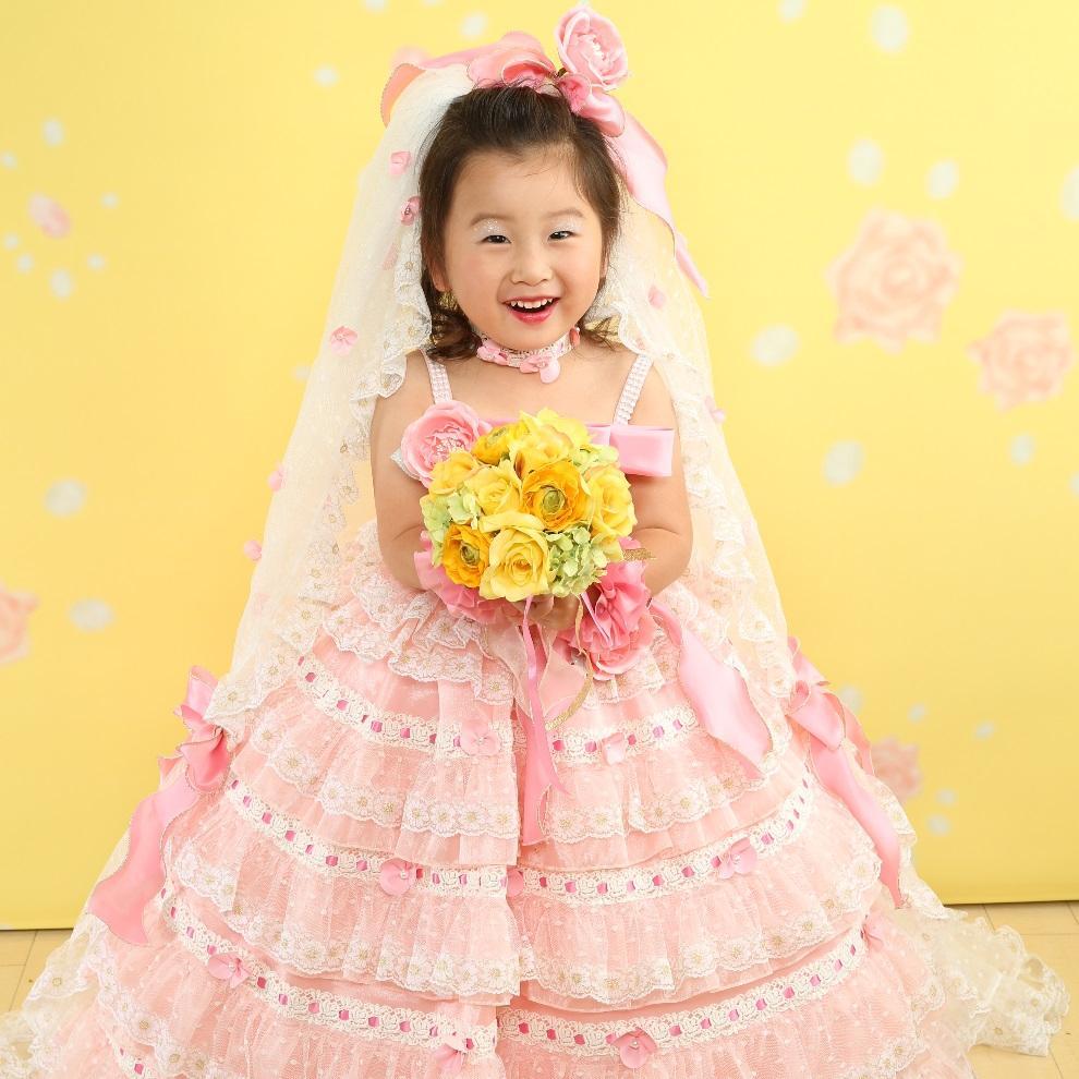 七五三 三歳ドレス写真