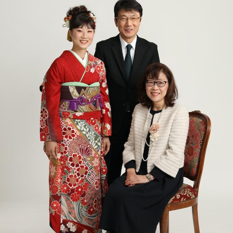 成人式 家族写真
