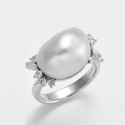 オーダー事例 南洋真珠ダイヤリング