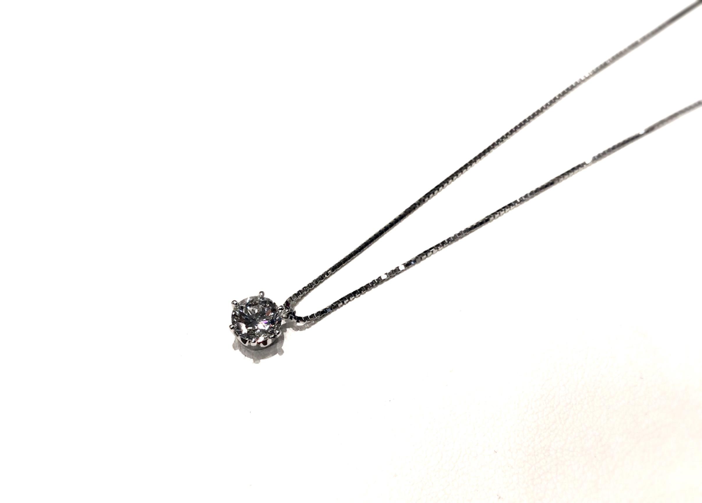 1カラットダイヤモンドリングをネックレスにリフォームして普段使いに