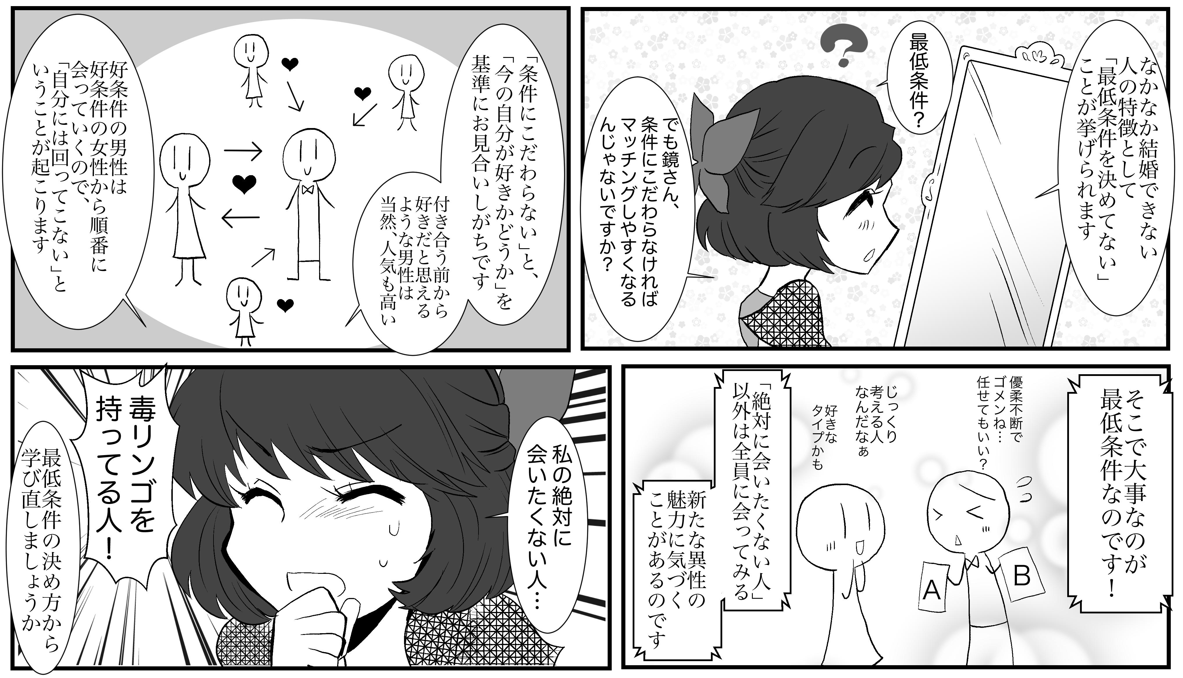 【婚活漫画】相手に尽くしすぎる白雪姫④
