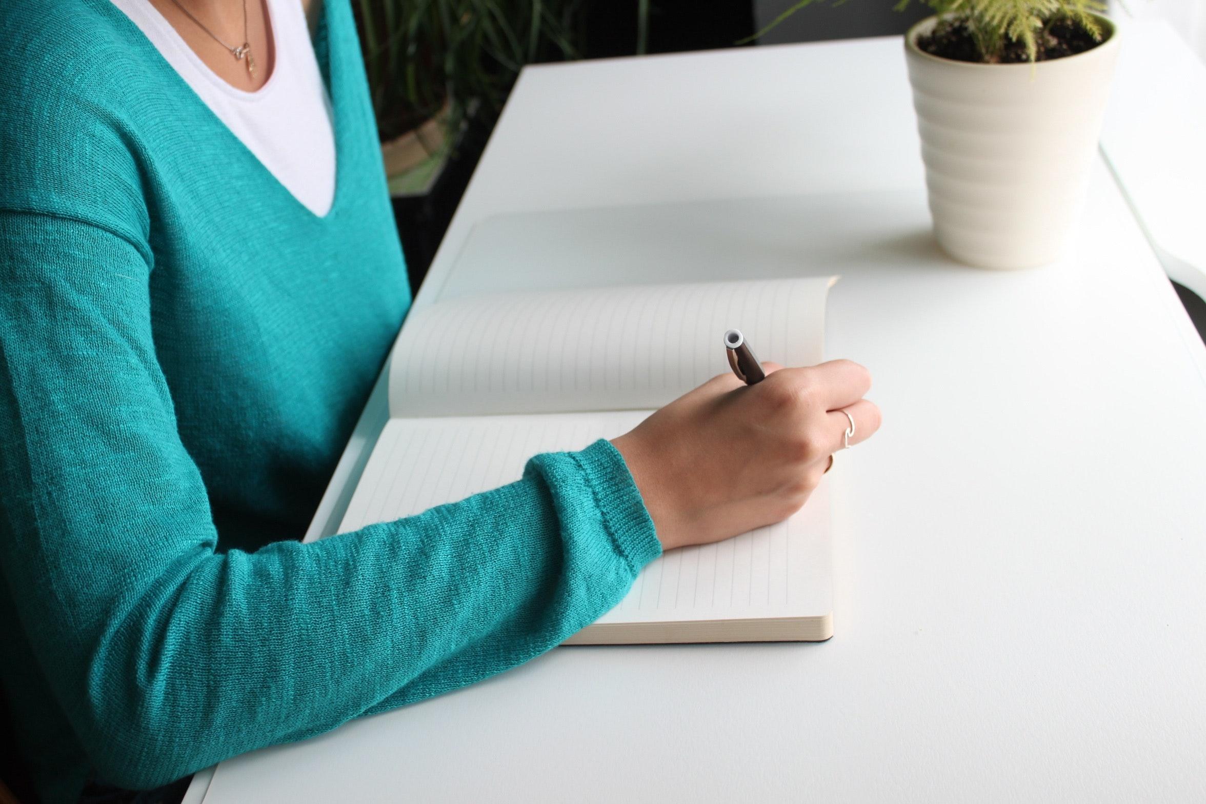 いいことをしたらノートに書いて自分を肯定する