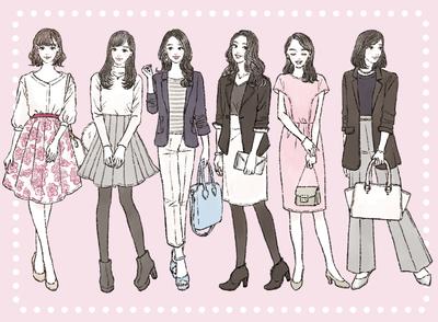 イラストで解説! 婚活パーティーでモテる女性の服装【季節・年代別】