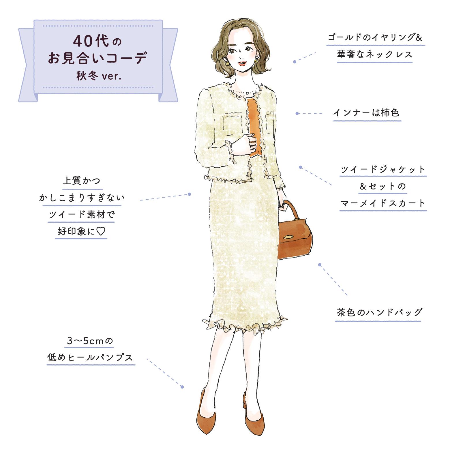 40代女性のお見合いの服装【秋冬】
