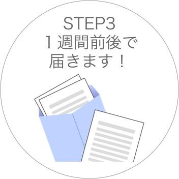 STEP3 1週間前後で届きます!