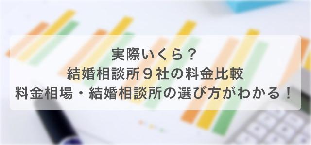 実際いくら?結婚相談所9社の料金比較 料金相場・結婚相談所の選び方がわかる!