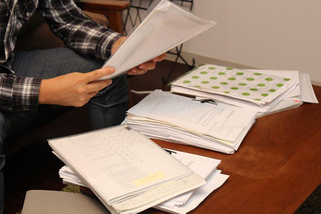 税務調査時に作成hした資料の山