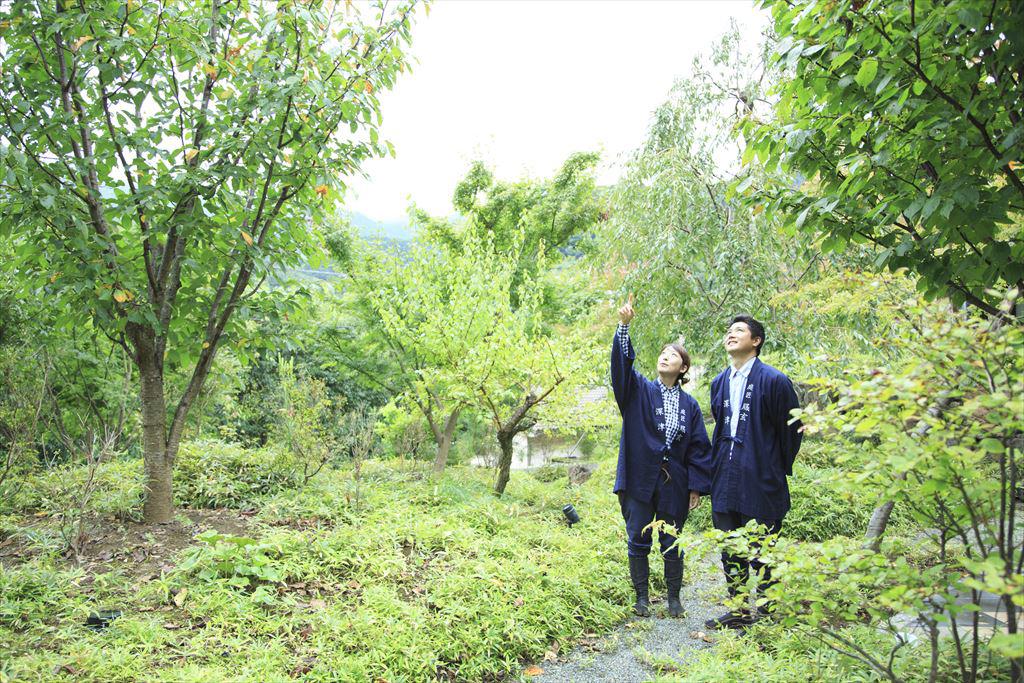 庭師の深津さんと堀内さん