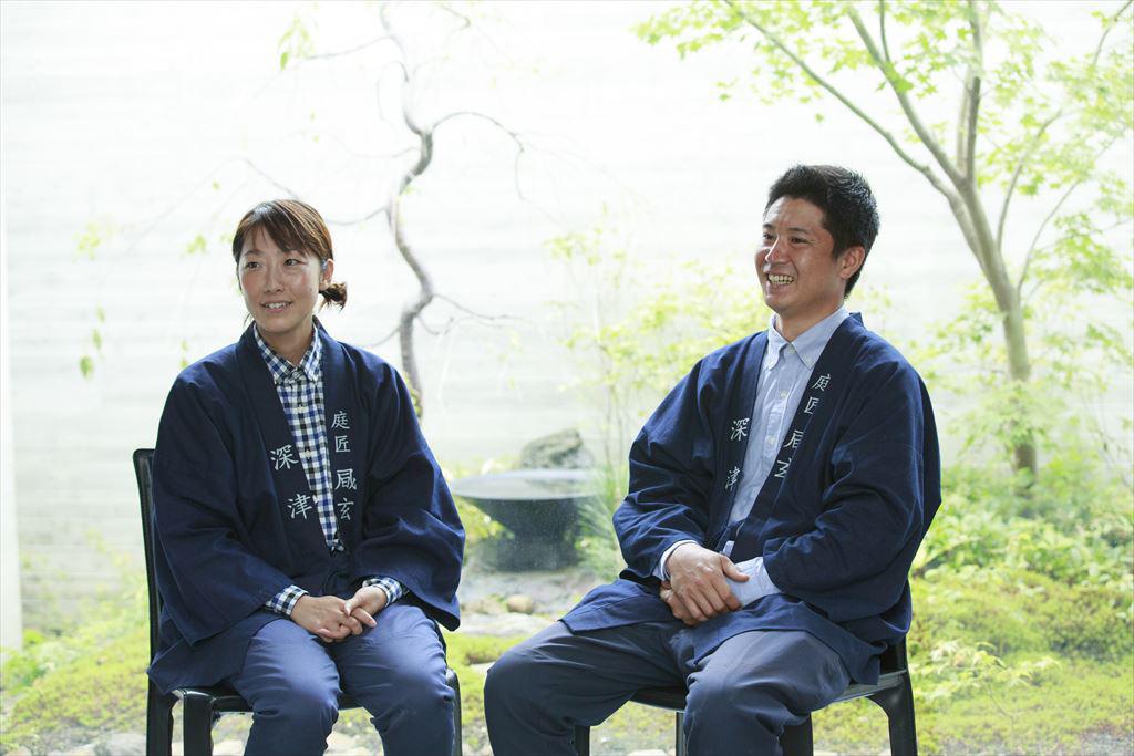 笑顔の深津さんと堀内さん