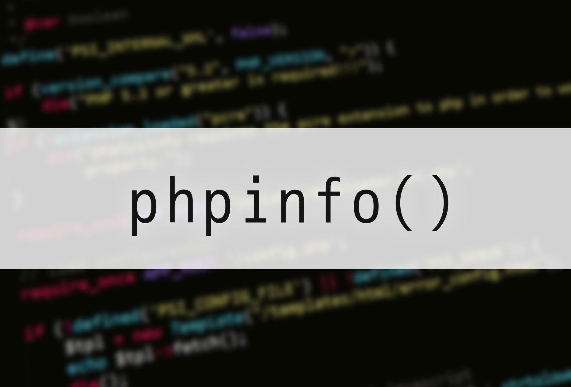 phpinfo()を使ってPHPの動作確認を行おう!