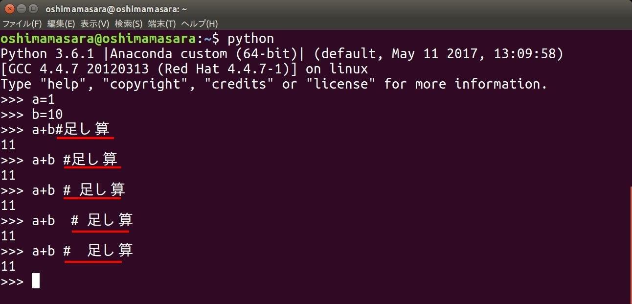 python-comment