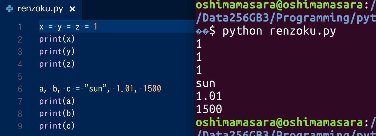 python_valiable