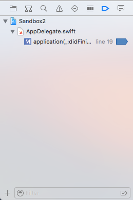 Xcode_Break Point Navigator