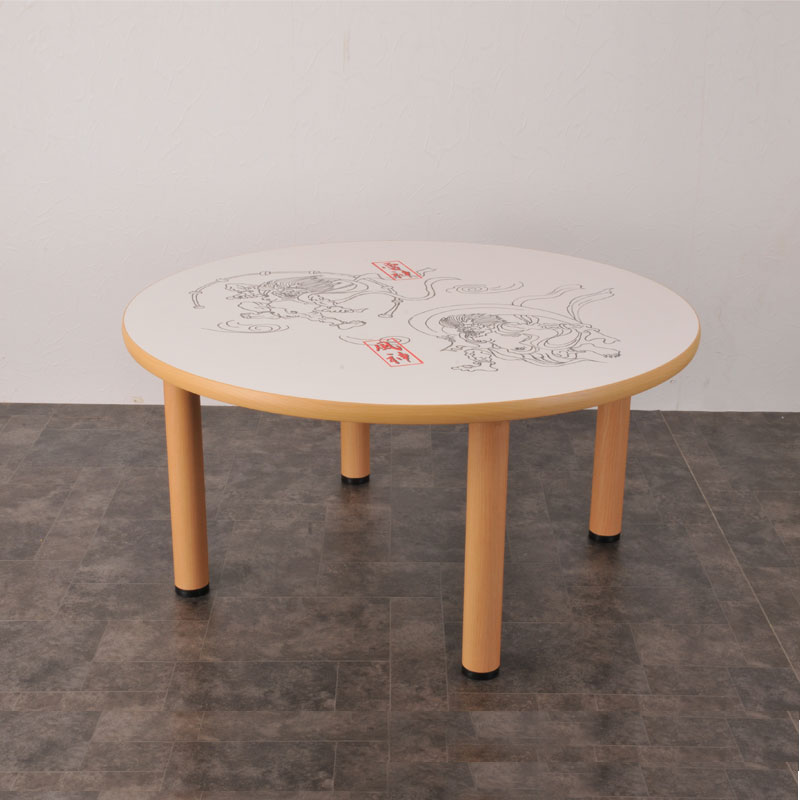 TE-4A 楽がきテーブル 円形 4本脚付 商品画像