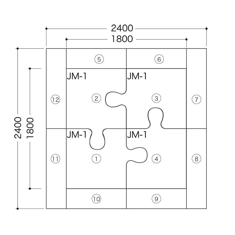 ジグソーシリーズ(バンビ2畳-A)