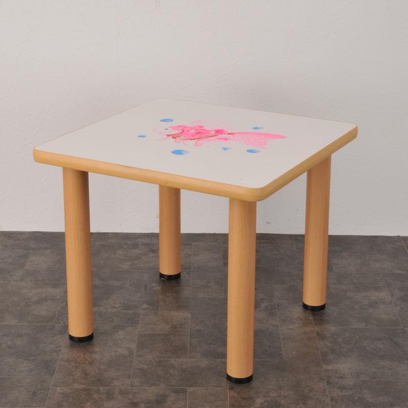 TS-4A 楽がきテーブル 正方形 4本脚付 商品画像
