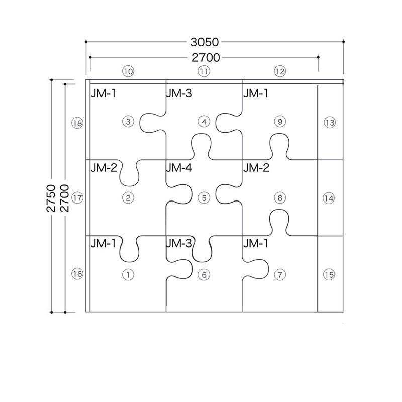 ジグソー/ バンビシリーズ  4.5畳プランE