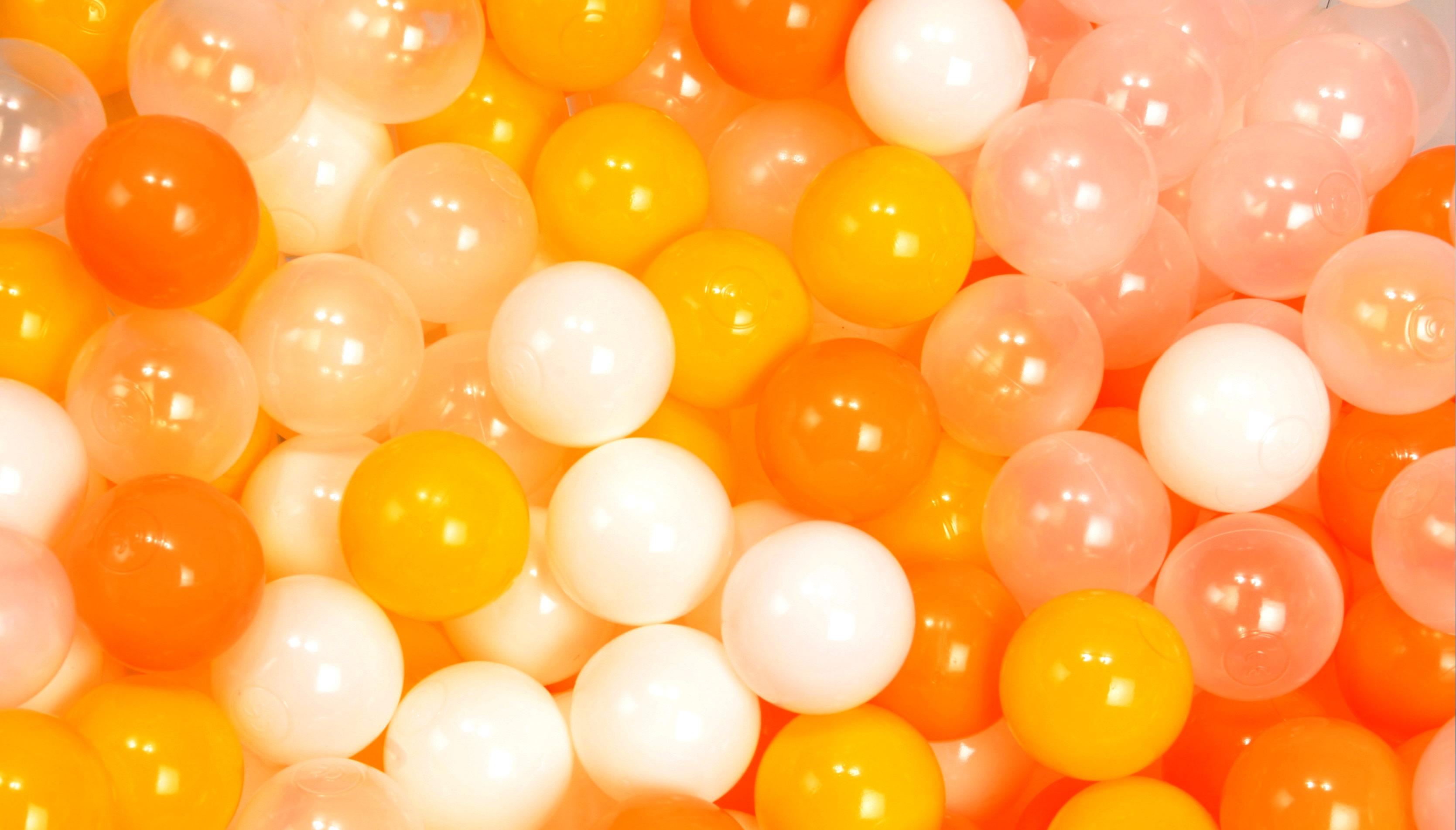 ボールプール用カラーボール 黄色ミックス