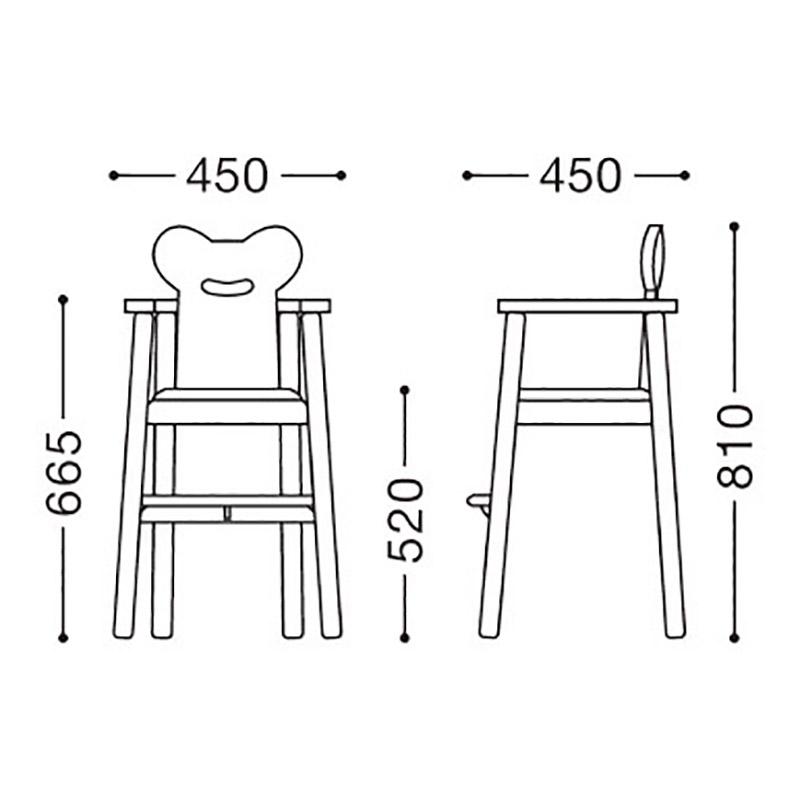 子供椅子5号(別張品)図面