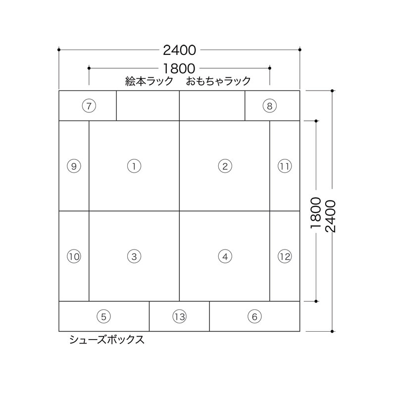 家具付き ファンシーセット(バンビ2畳-6)