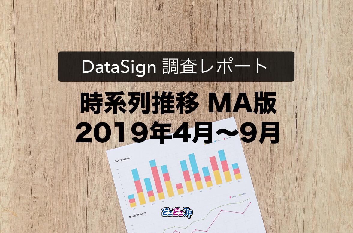 DataSign Report マーケティングオートメーション(2019年4月〜9月の推移)
