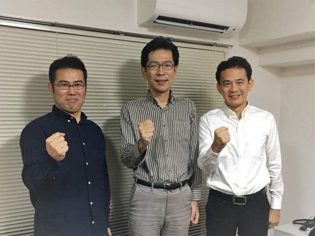 多田 智裕氏/代表取締役社長COO山内 善行氏/取締役CTO青山 和玄氏