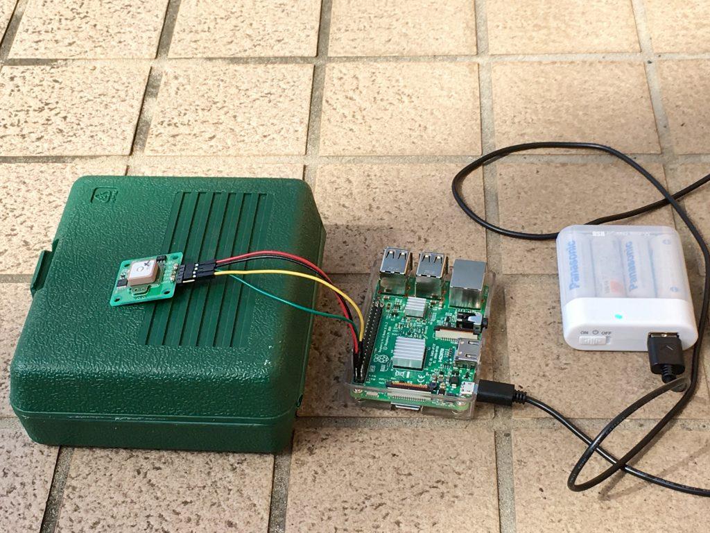 ラズベリーパイ3 SORACOM Ambient でGPSロガーを作る:GPS実験 イー・レンジャー株式会社