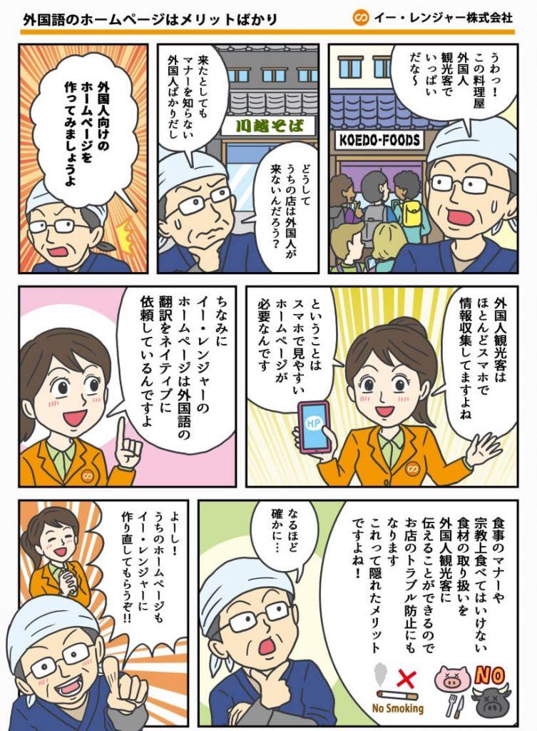 多言語ホームページ イー・レンジャー株式会社