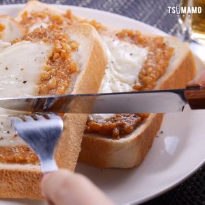納豆のみそ焼きトースト