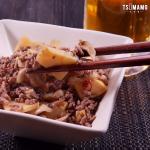 タケノコとひき肉のピリ辛炒めのレシピ