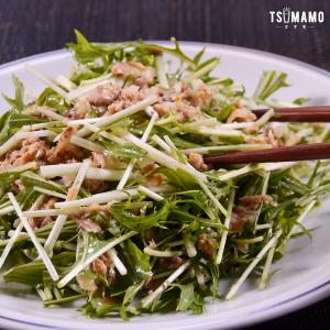 水菜とツナの粒マスタードサラダのレシピ