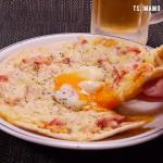 温玉カルボナーラピザ