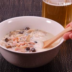 しめじの豆乳スープのレシピ