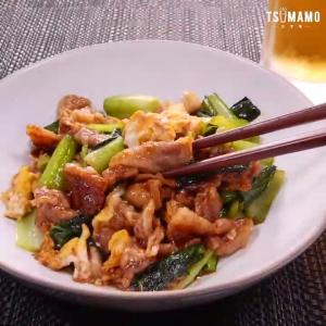 豚バラ卵の中華炒め