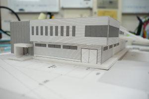 建築模型にてイメージ作り