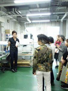 自治会を招いて工場見学会を開催