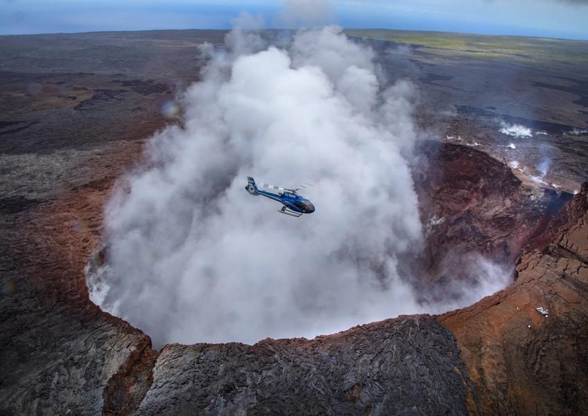 블루하와이안 헬리콥터 - 써클 오브 파이어 플러스 워터폴스 투어 (화산활동/열대우림 폭포 코스 50분코스)