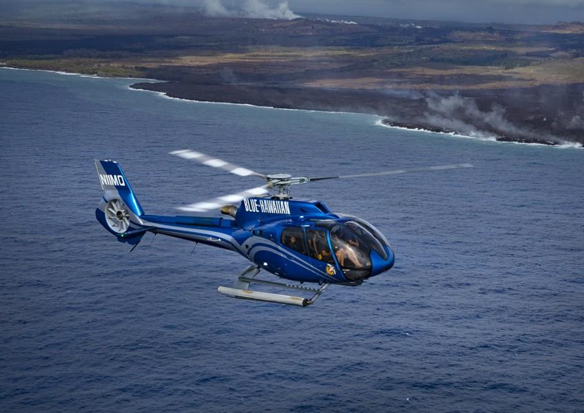 블루하와이안 헬리콥터 - 빅아일랜드 스펙타큘러 투어 (화산활동/블랙샌드 비치/코할라 산맥 등 화산활동 관람 2시간 종합코스)