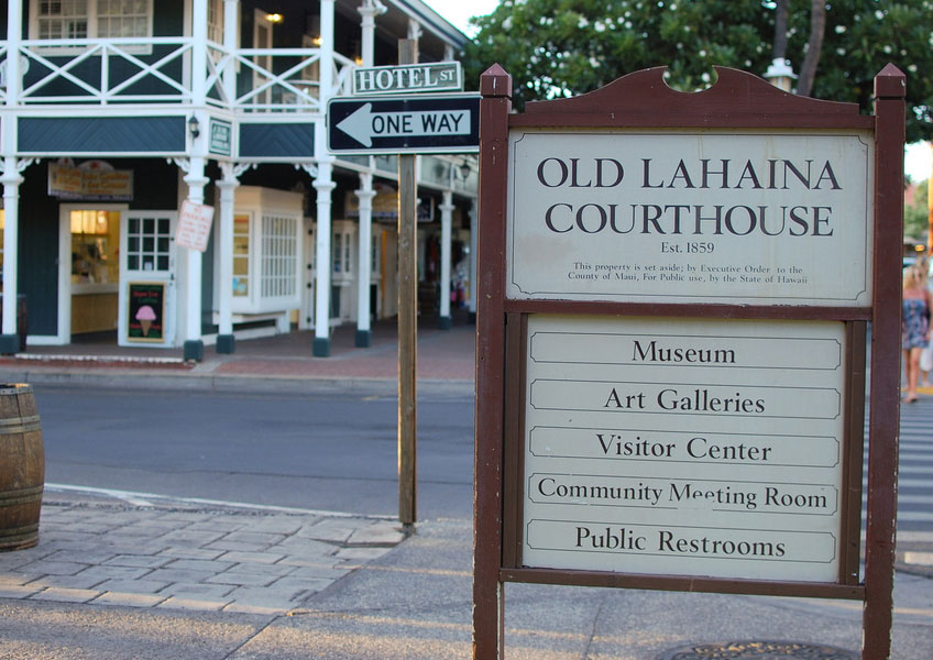 옛 하와이 왕국의 수도였던 라하이나 마을에서 빈티지한 매력을 느껴보세요.